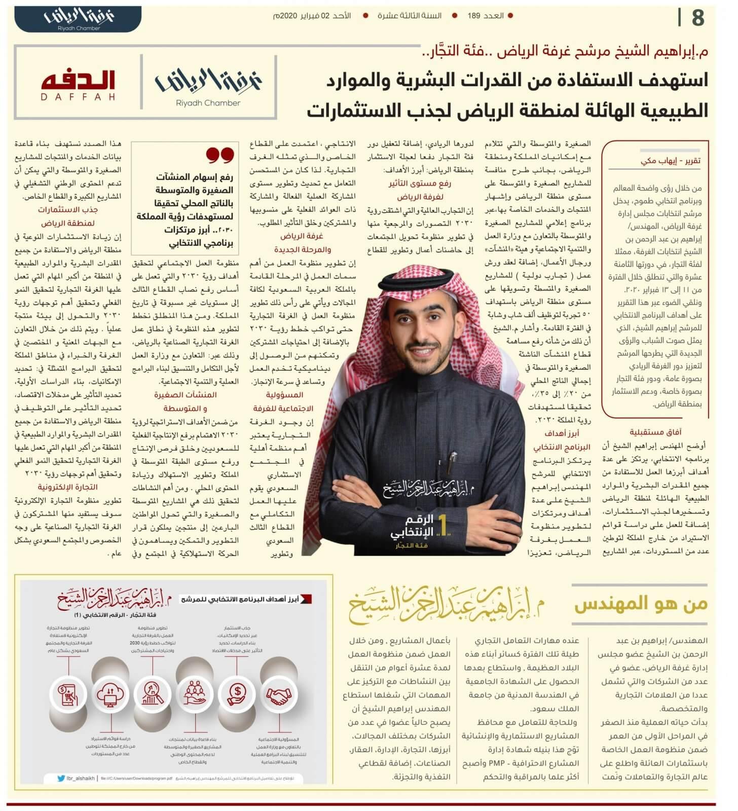 ابراهيم الشيخ مشاريع استثمارية